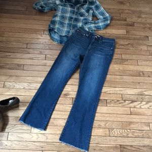J Crew Point Sur Skinny Flare High Rise Jeans